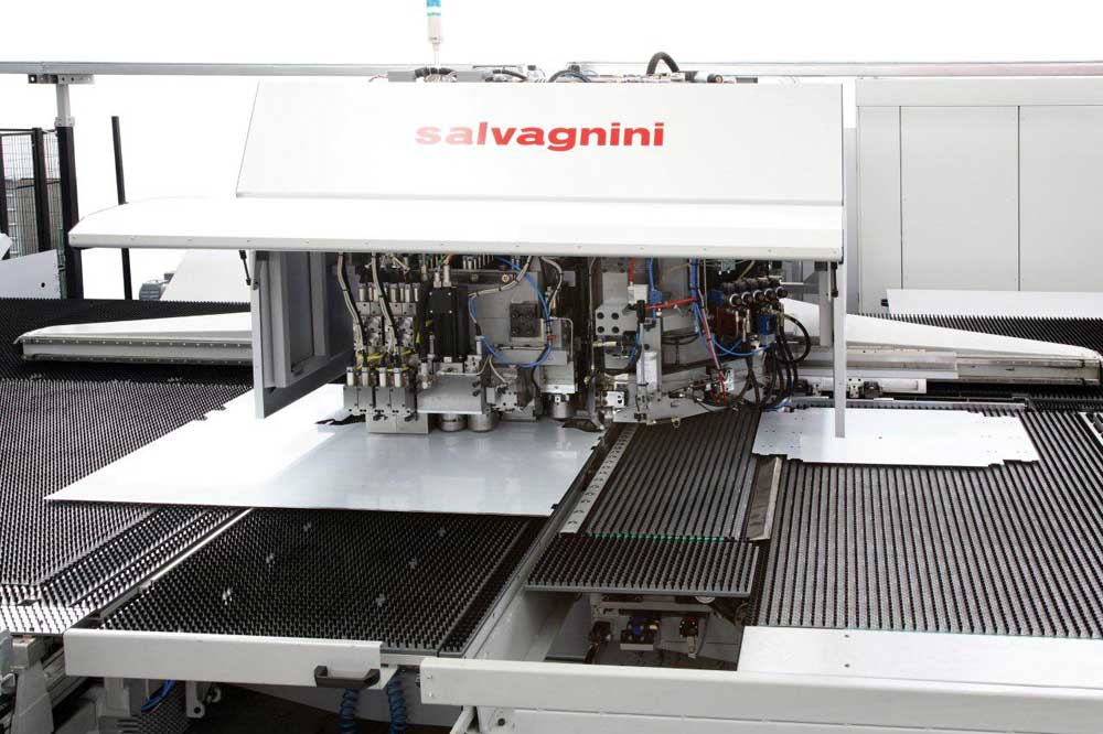 Automatic metal punching & shearing system Salvagnini S4Xe.30