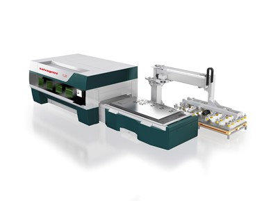 High dynamics laser cutting machines with optic fiber generator SALVAGNINI L5