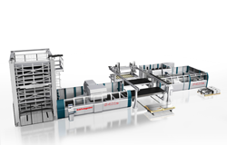 Automated manufacturing lines for sheet metal fabrication