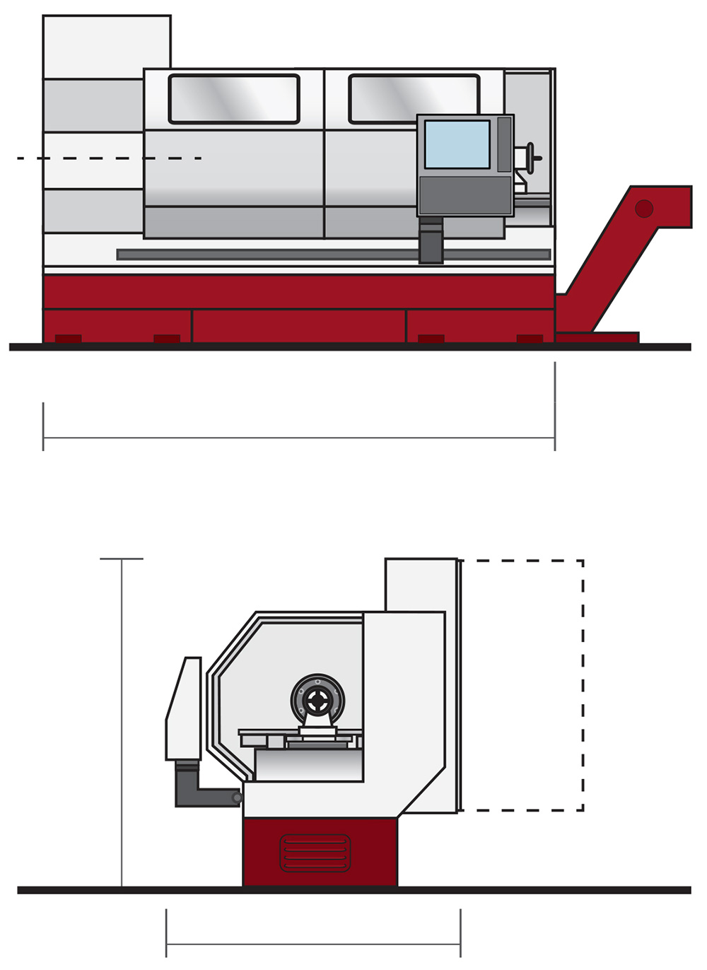 Horizontal bed turning machines with up-to-the-minute CNC conversational mode ET-21