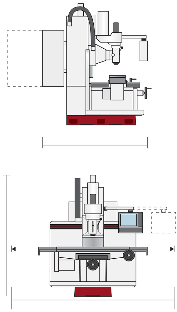 Toolroom milling machines with conversational CNC control MB-15Q