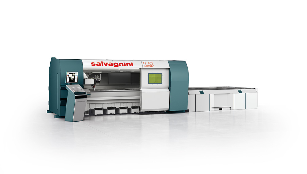 Laser cutting machines with optic fiber generator Salvagnini L3-4020