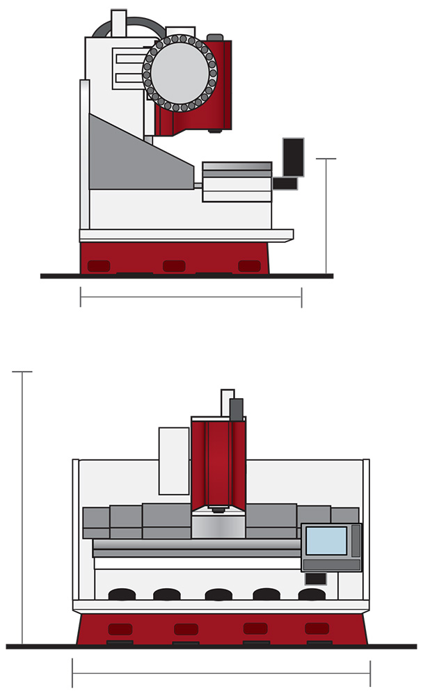 Vertical traveling column machining centers from Series  TC-240V