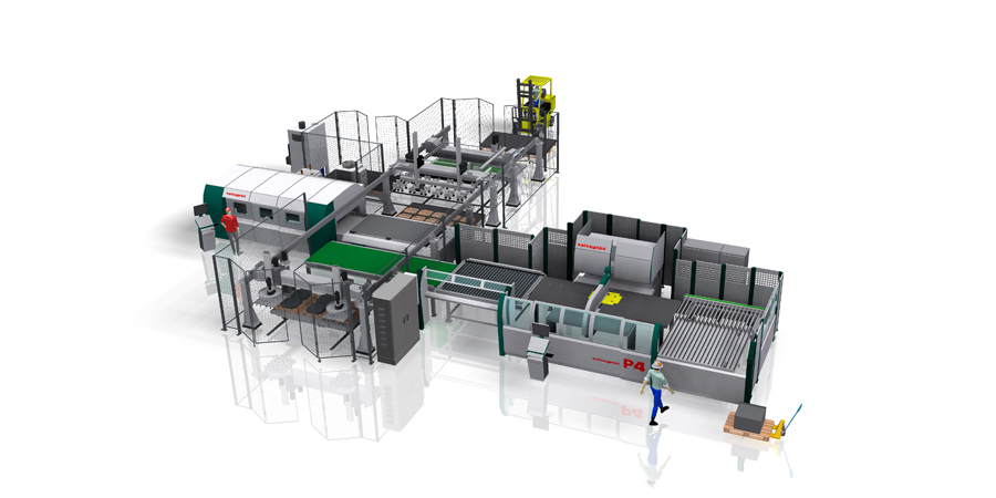 Automated manufacturing lines SALVAGNINI FMS S4+P4